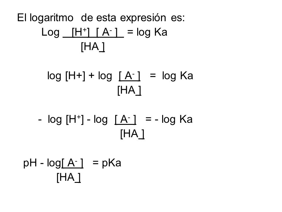 El logaritmo de esta expresión es: