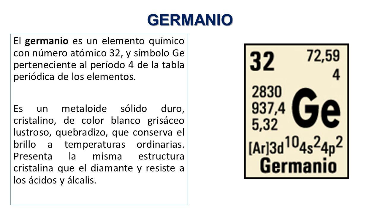 Fsica de semiconductores caracatersticas del si ppt descargar germanio urtaz Gallery