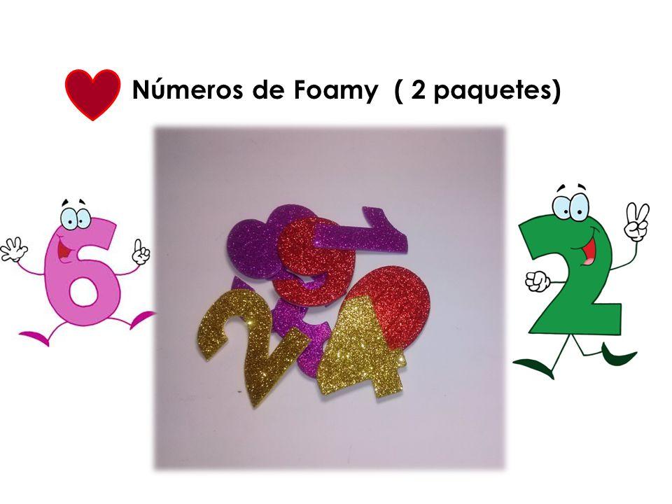 Números de Foamy ( 2 paquetes)