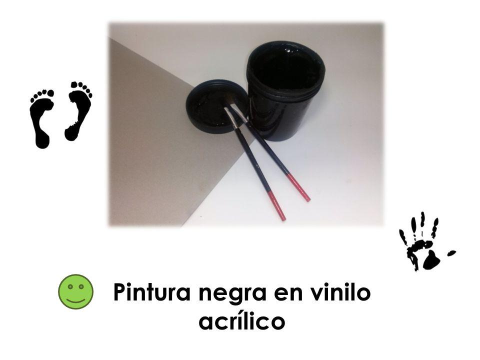 Pintura negra en vinilo acrílico
