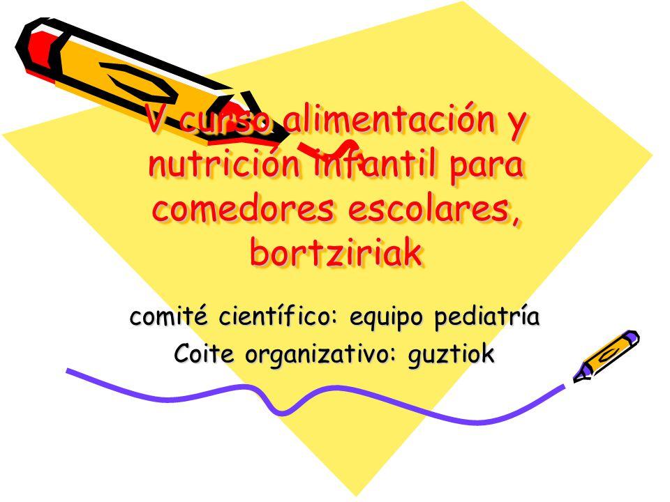 comité científico: equipo pediatría Coite organizativo: guztiok