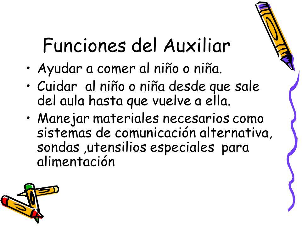 Funciones del Auxiliar