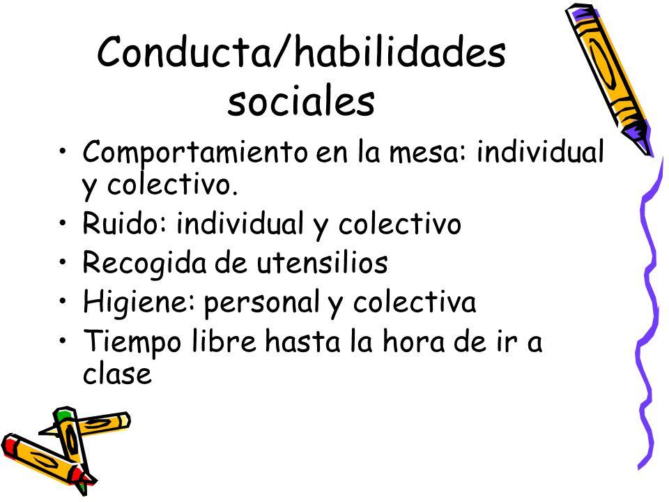 Conducta/habilidades sociales