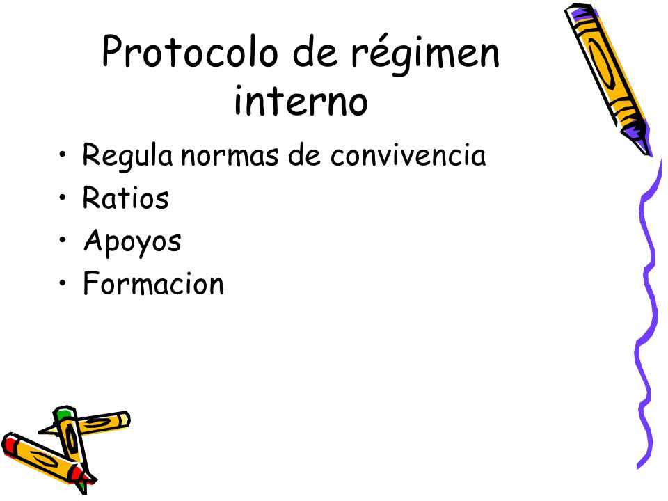 Protocolo de régimen interno