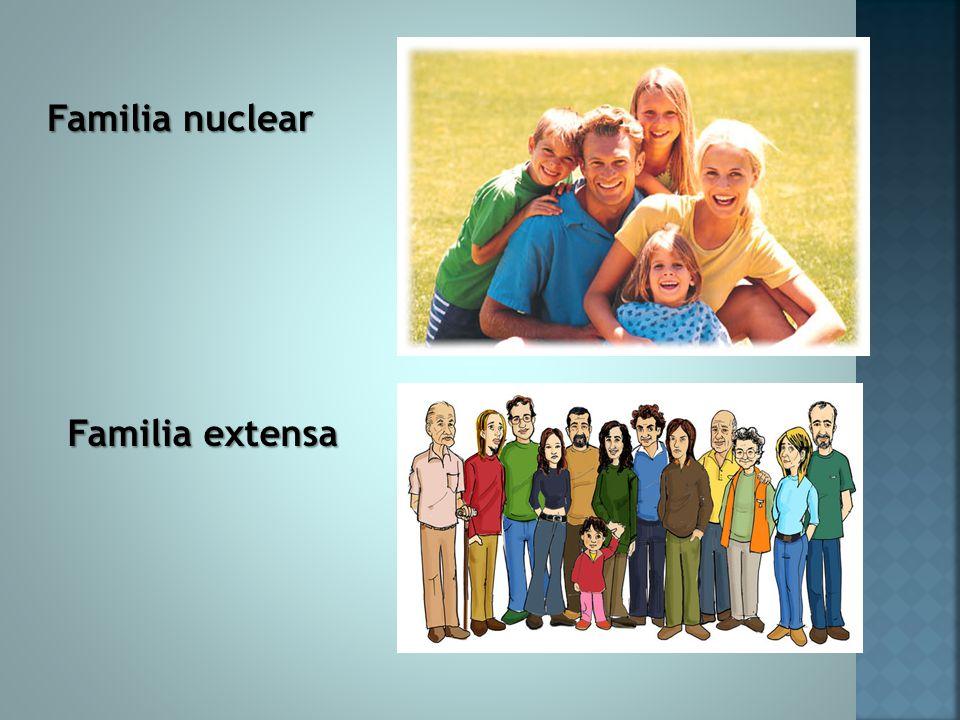 La familia ppt descargar Tipos de familia nuclear