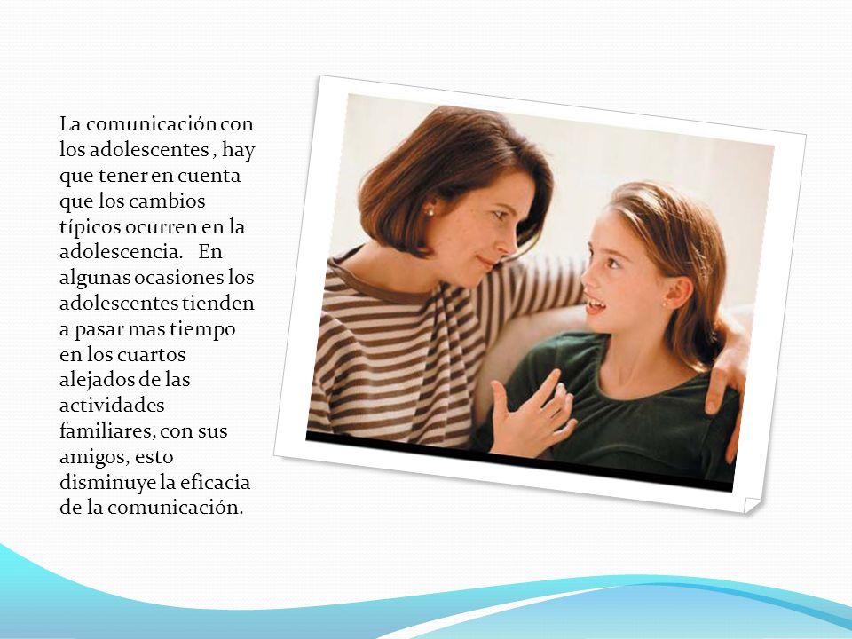 la comunicaci n entre padres e hijos adolescentes ppt On cambio de habitacion de los padres