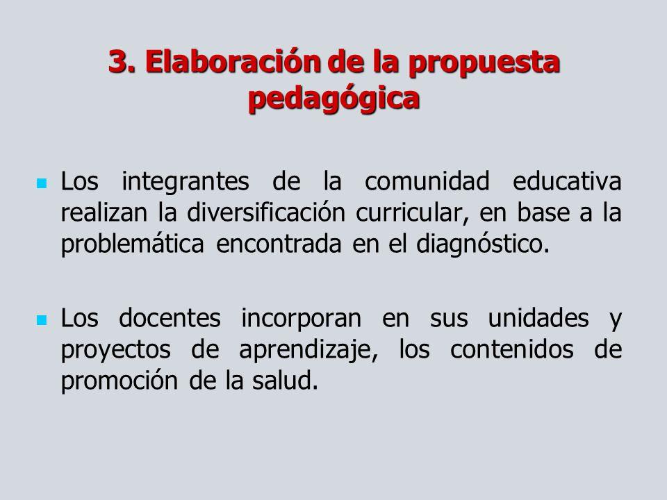 3. Elaboración de la propuesta pedagógica