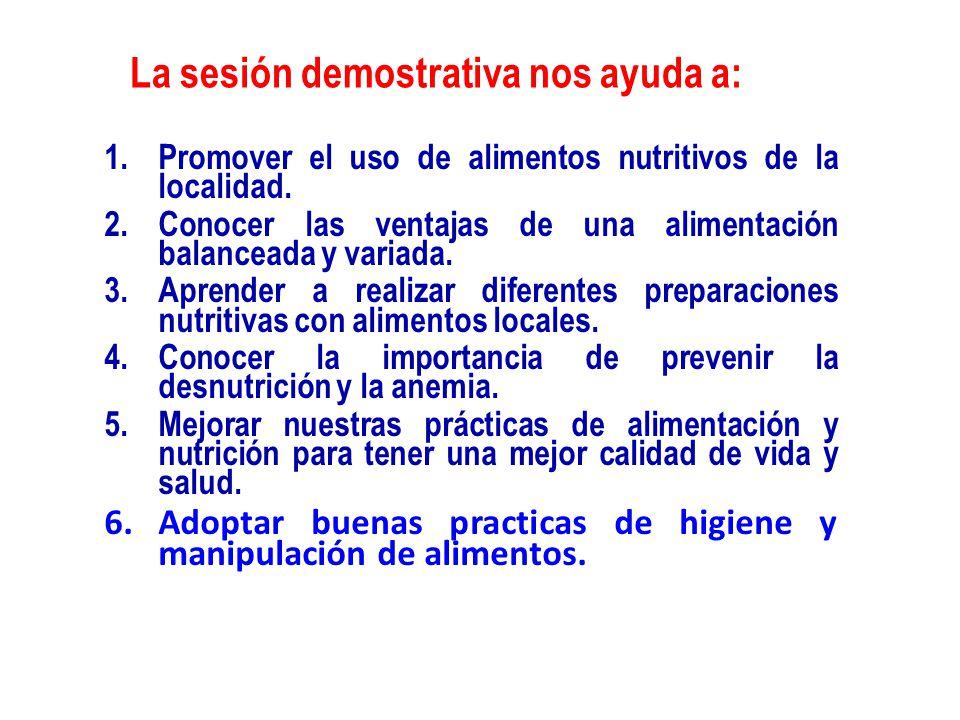 Sesiones demostrativas ppt video online descargar for Manual de buenas practicas de higiene y manipulacion de alimentos