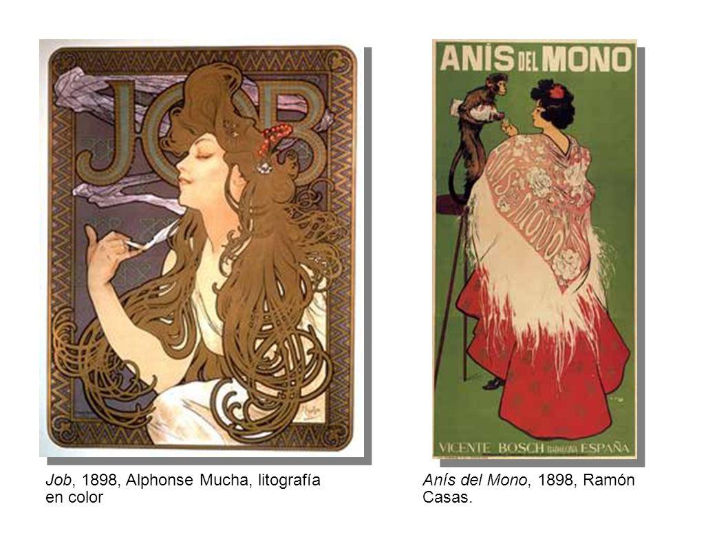 Job, 1898, Alphonse Mucha, litografía en color