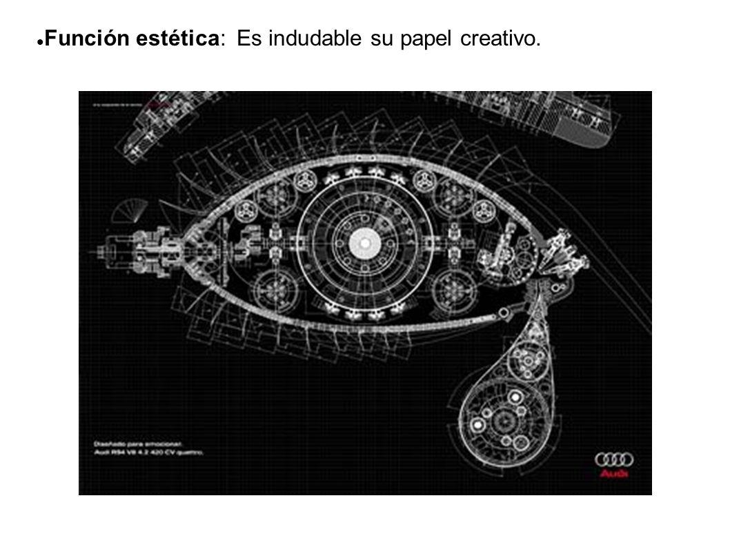 Función estética: Es indudable su papel creativo.