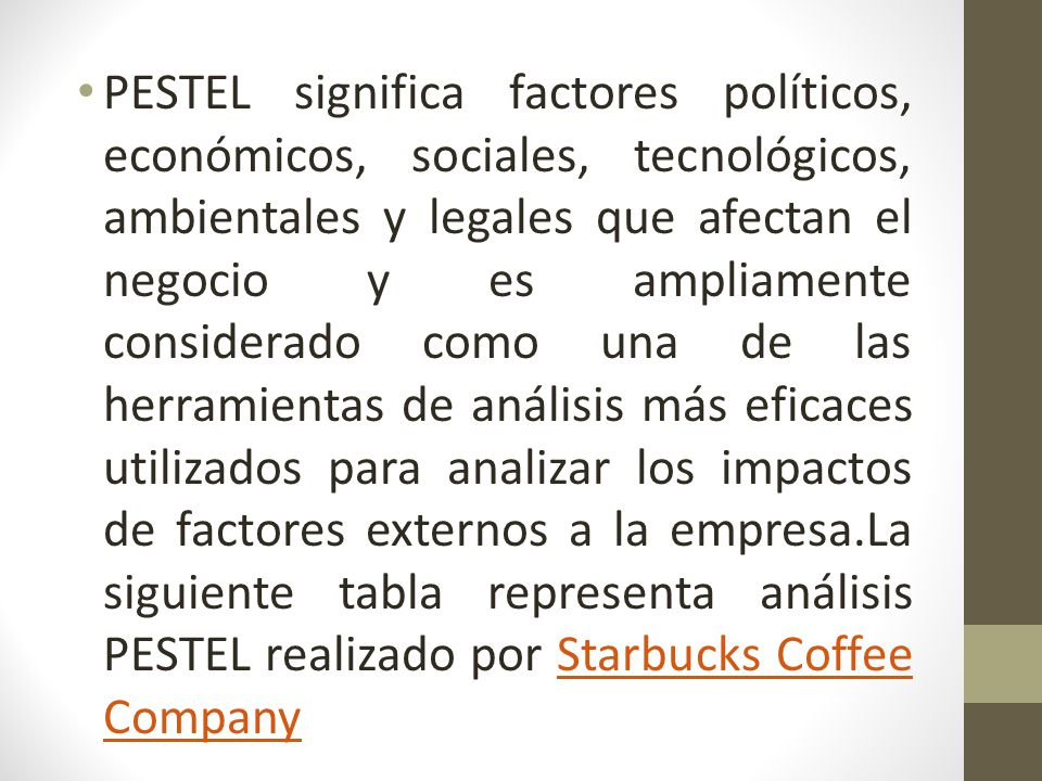 pestel analysis for nestle political factors affecting nestle Swot and pestle analysis for nestle technological the technological factors have had a great impact political taxation regulation if government.