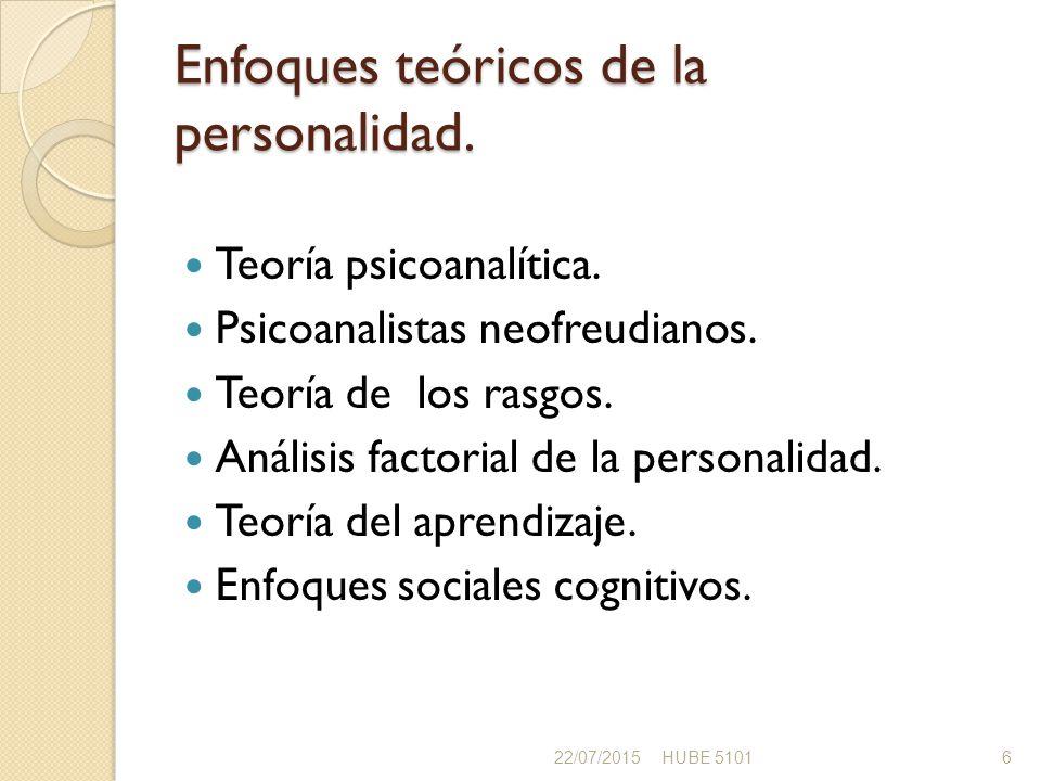 Enfoques teóricos de la personalidad.