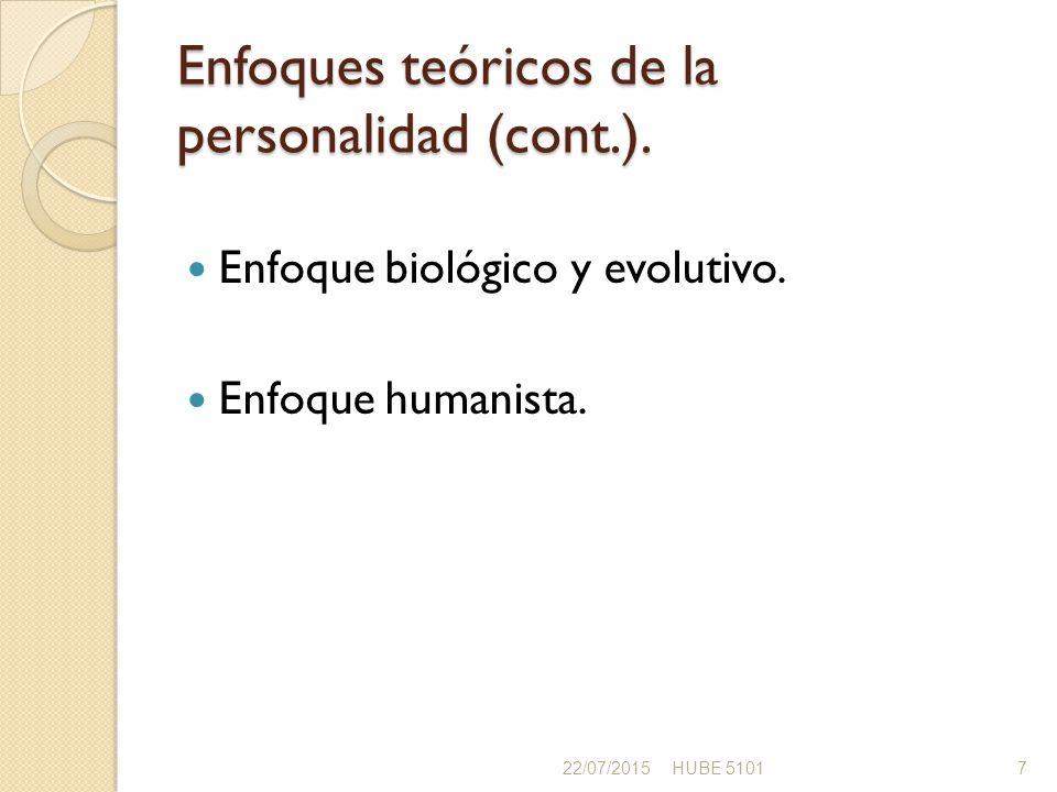 Enfoques teóricos de la personalidad (cont.).