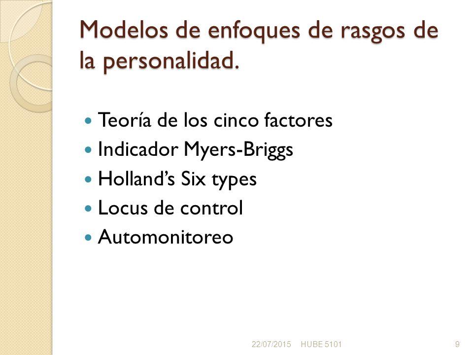 Modelos de enfoques de rasgos de la personalidad.