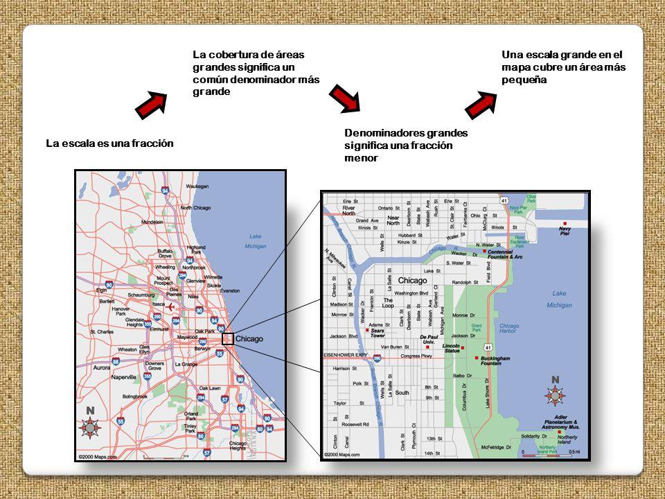 La cobertura de áreas grandes significa un común denominador más grande
