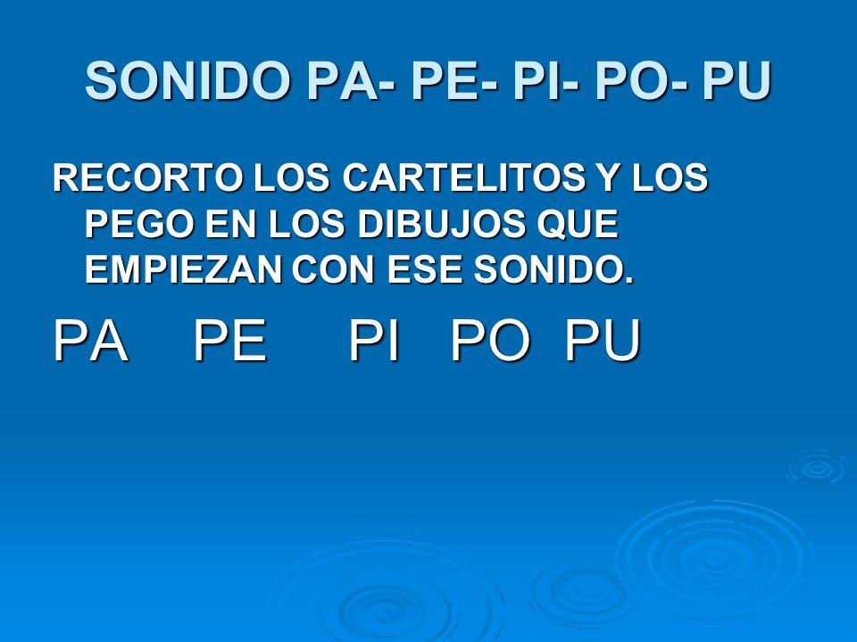 SONIDO PA- PE- PI- PO- PU
