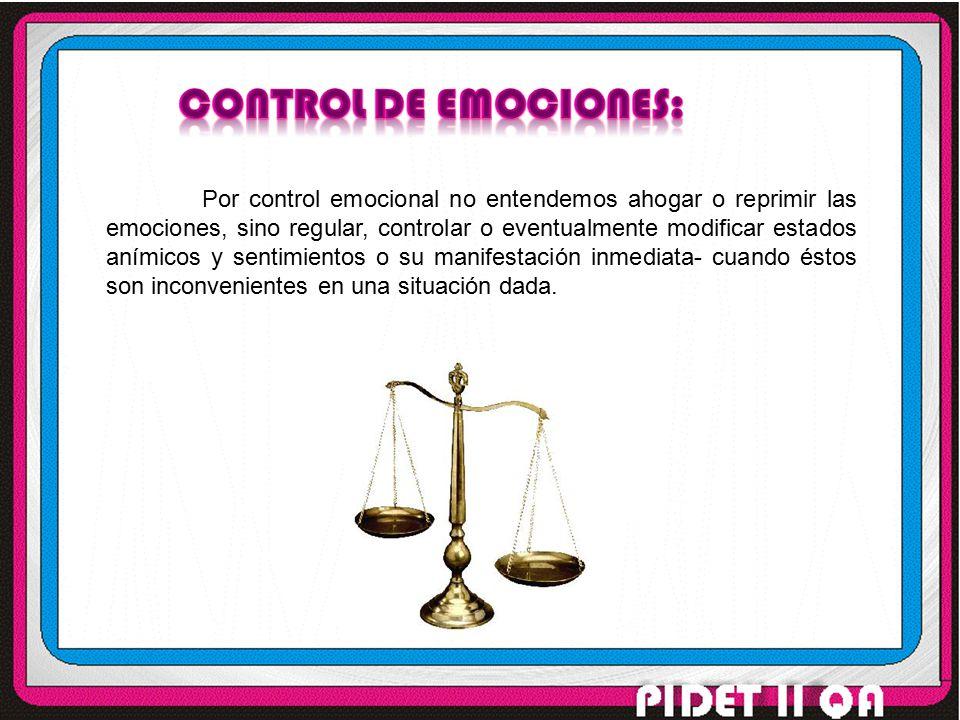 Control de emociones: