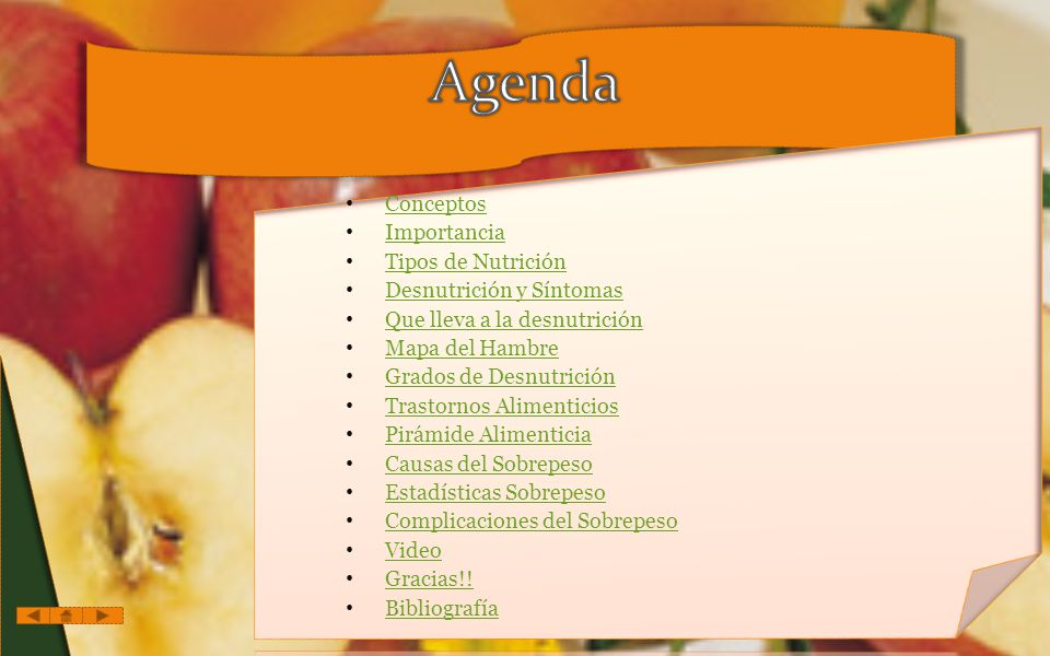 Agenda Conceptos Importancia Tipos de Nutrición
