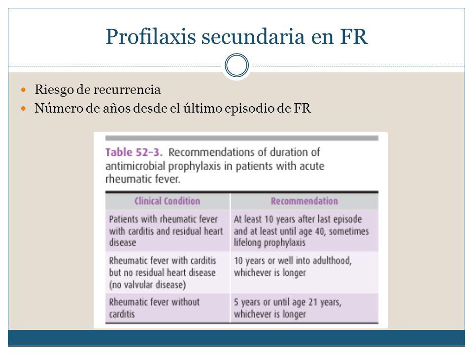 Profilaxis secundaria en FR