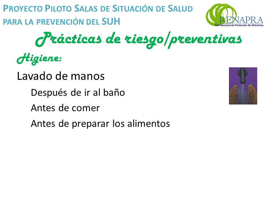 Proyecto piloto salas de situaci n de salud para la - Alimentos para ir al bano inmediatamente ...