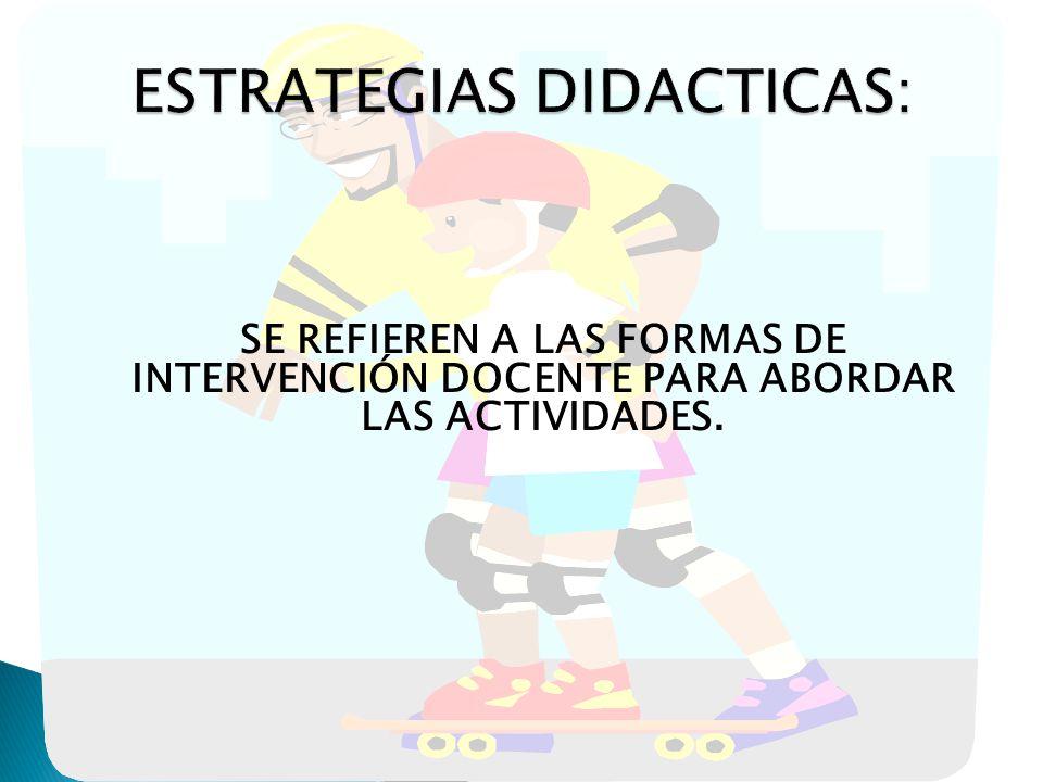 ESTRATEGIAS DIDACTICAS:
