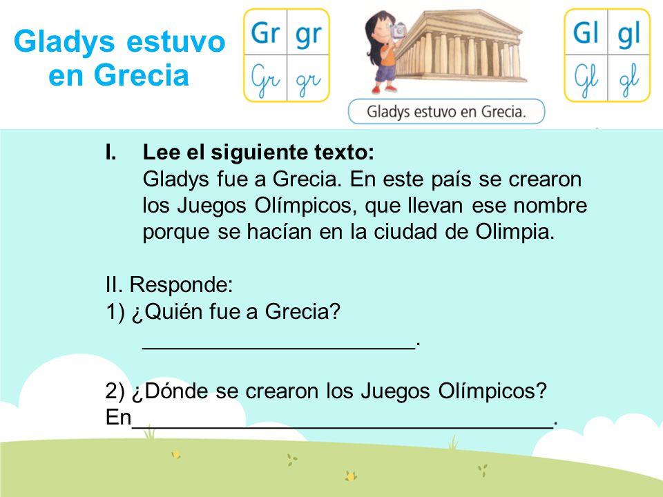 Gladys estuvo en Grecia