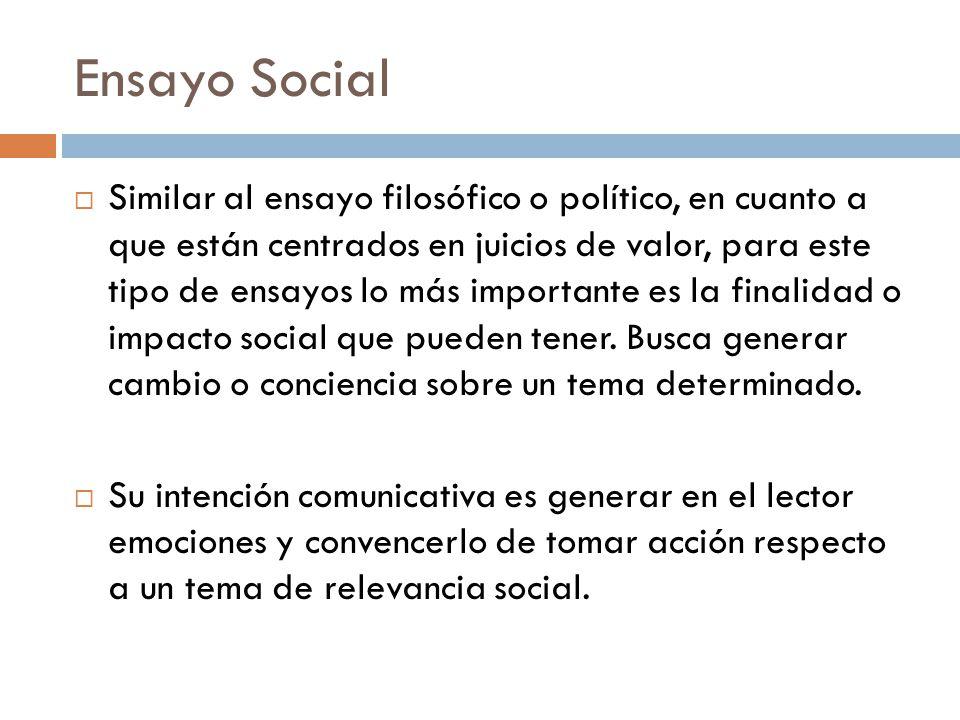 Ensayo Social