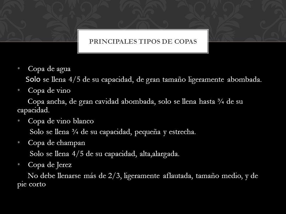 PRINCIPALES TIPOS DE COPAS