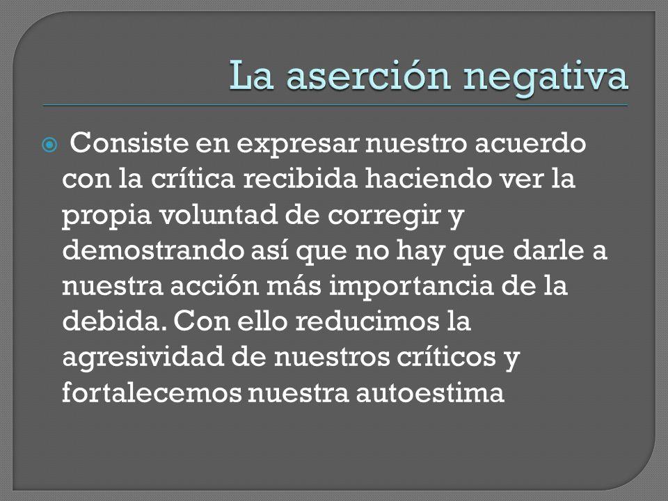 La aserción negativa