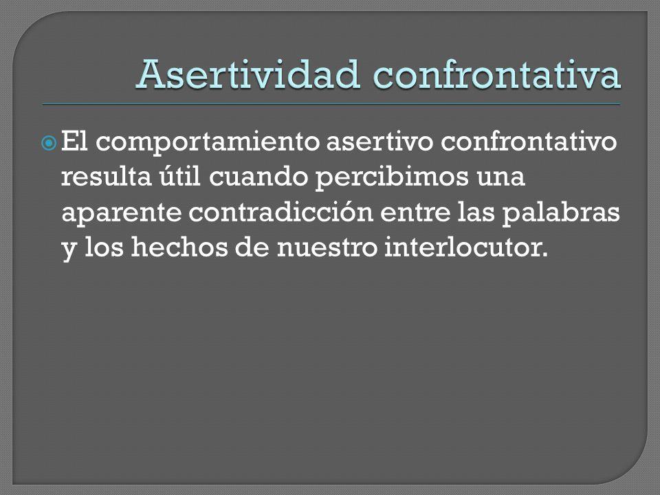 Asertividad confrontativa