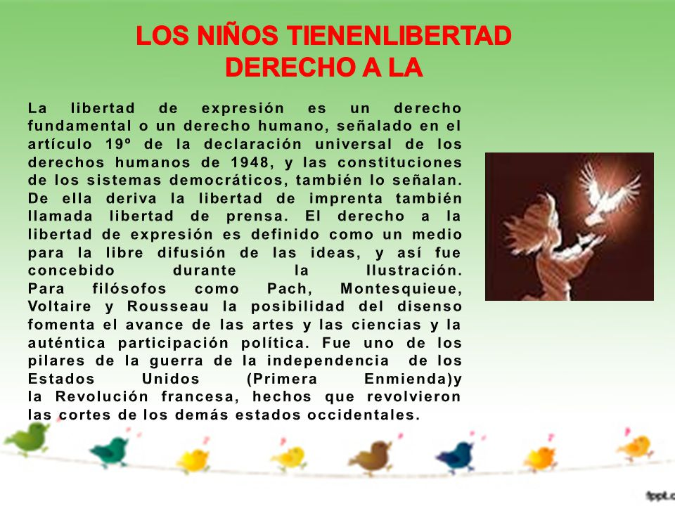 LOS NIÑOS TIENENLIBERTAD DERECHO A LA