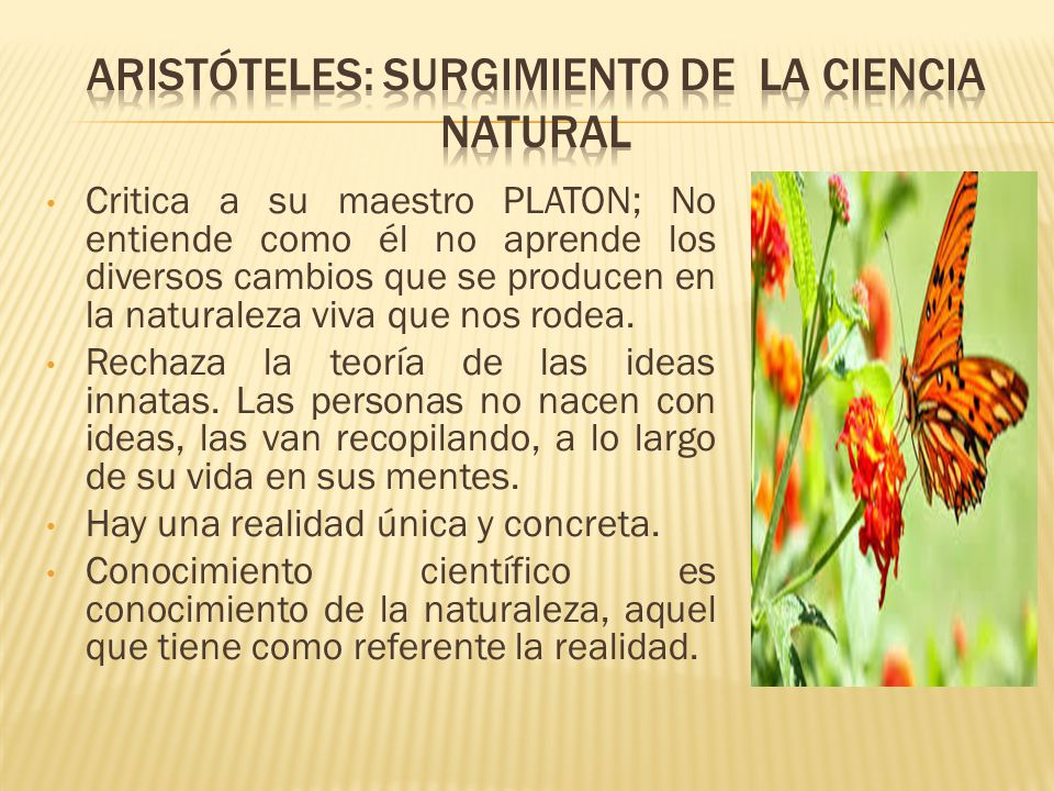 Aristóteles: surgimiento de la ciencia natural