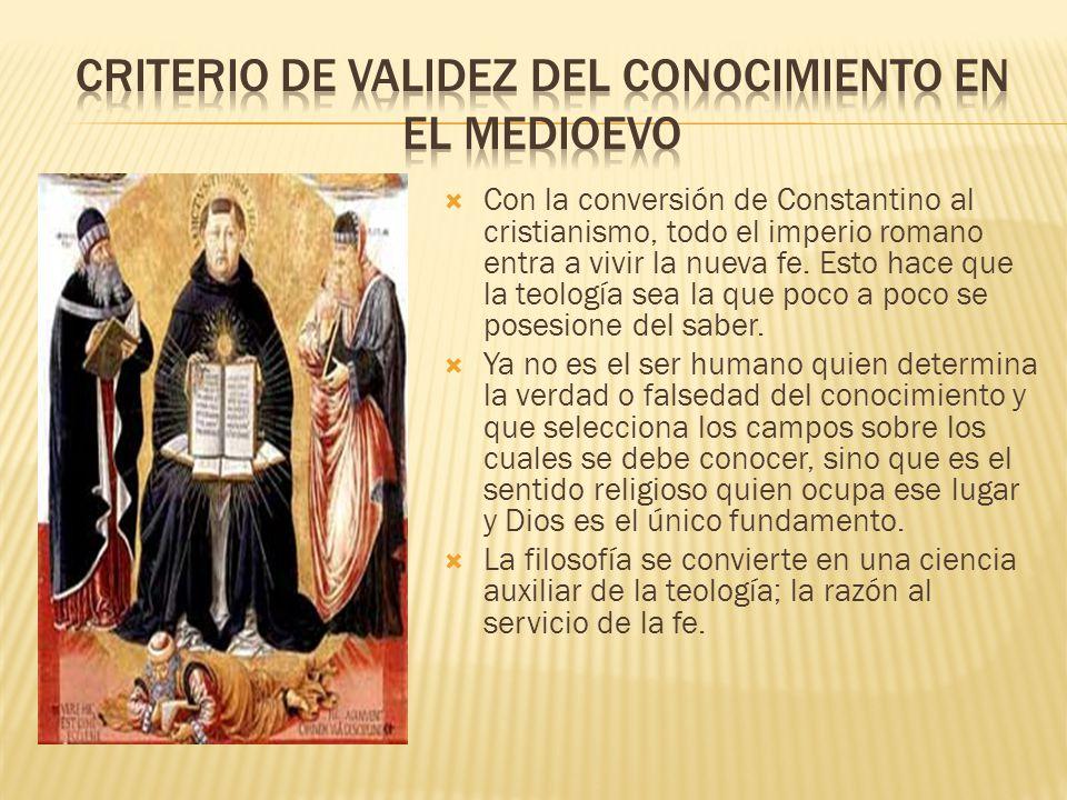 Criterio de validez del conocimiento en el medioevo
