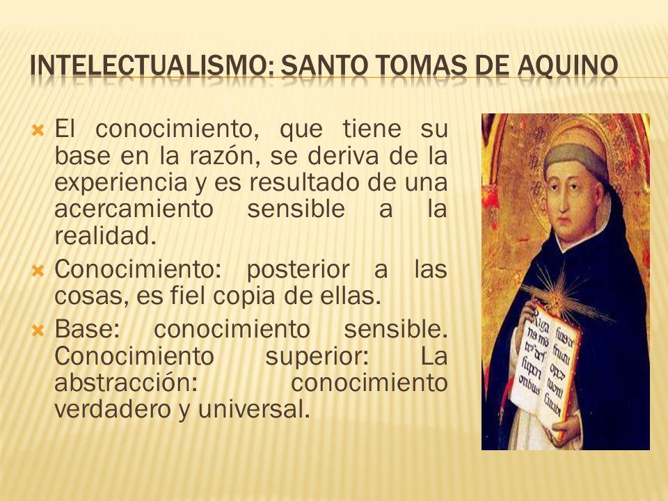 Intelectualismo: santo tomas de Aquino