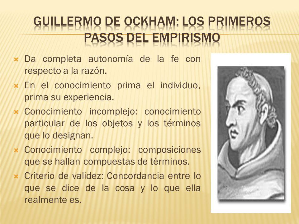 Guillermo de Ockham: Los primeros pasos del empirismo