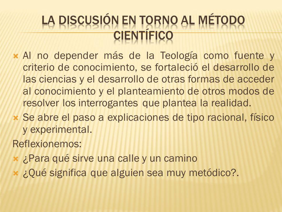 La discusión en torno al método científico