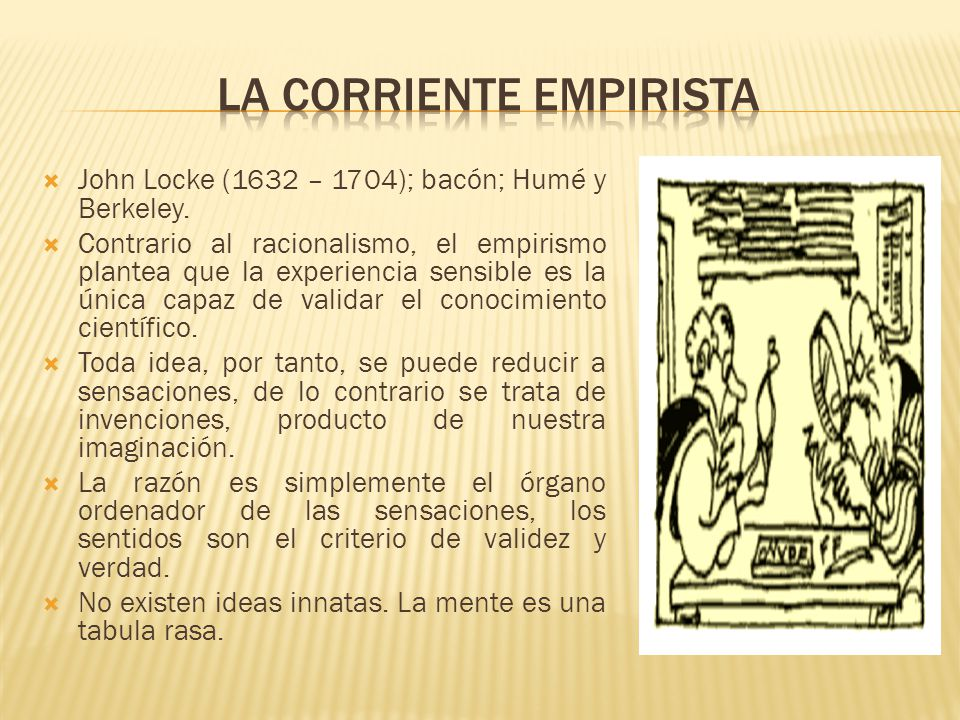La corriente empirista