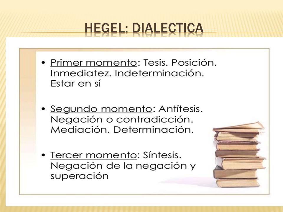 HEGEL: DIALECTICA