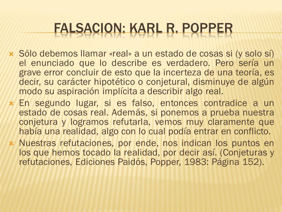 Falsacion: Karl R. Popper