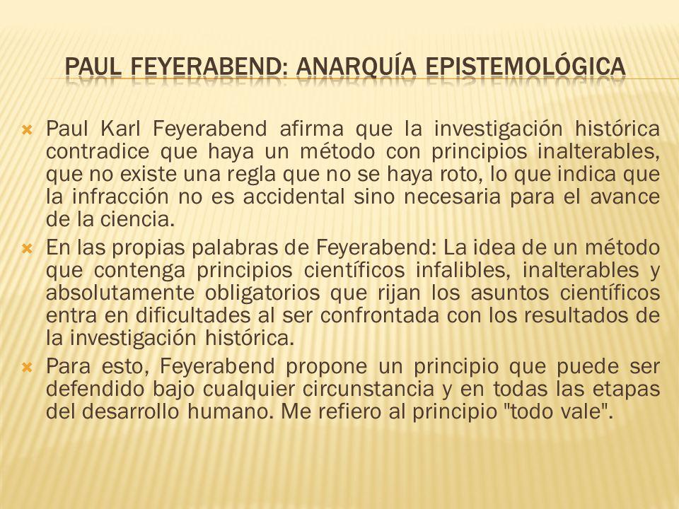 Paul Feyerabend: anarquía epistemológica