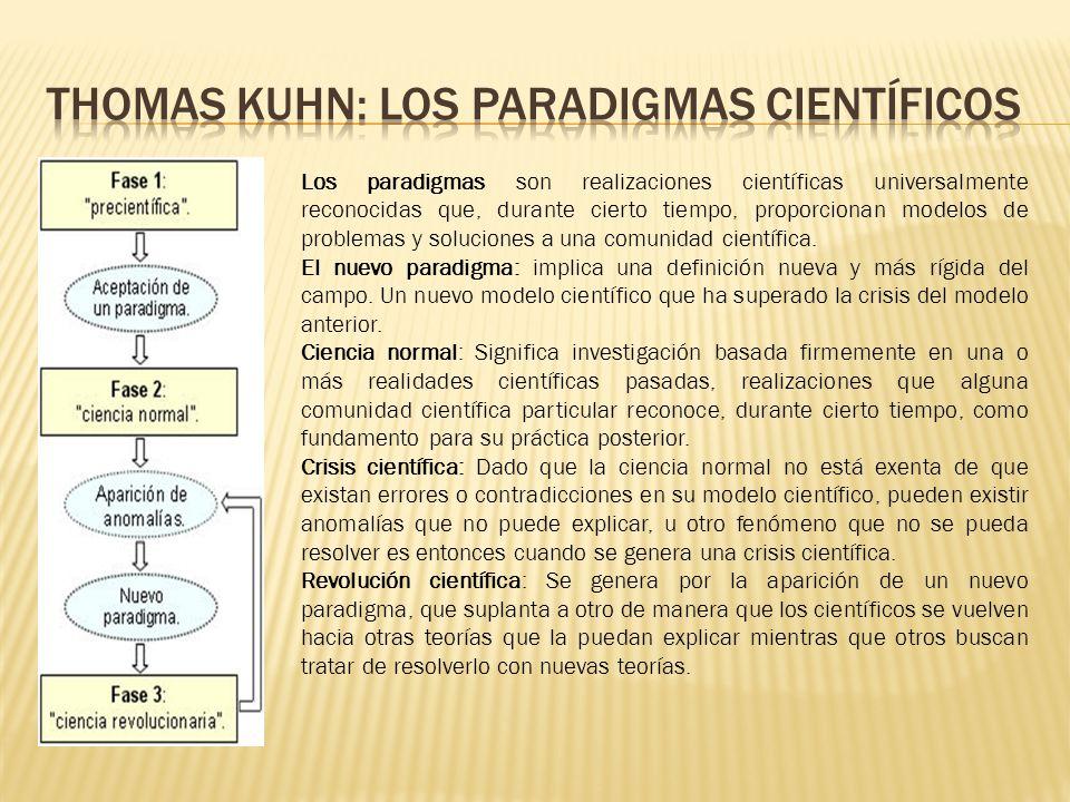 Thomas Kuhn: los paradigmas científicos