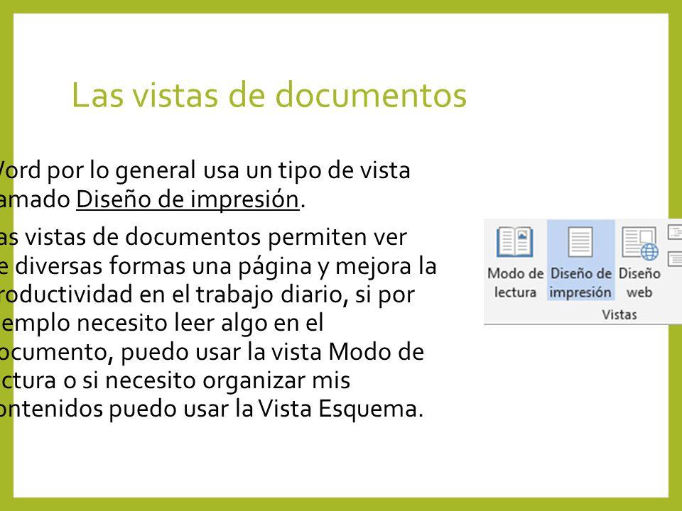 Las vistas de documentos