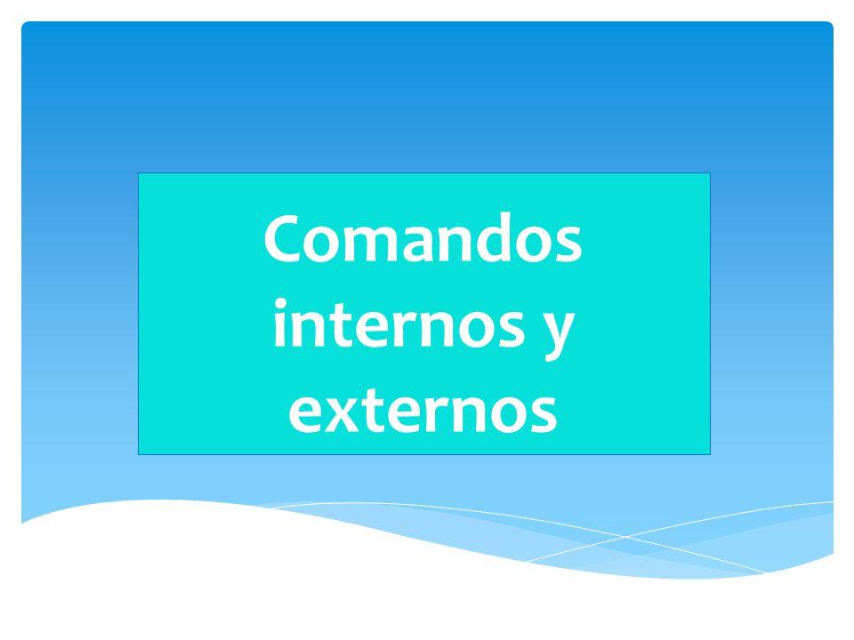 comandos internos y externos ppt video online descargar