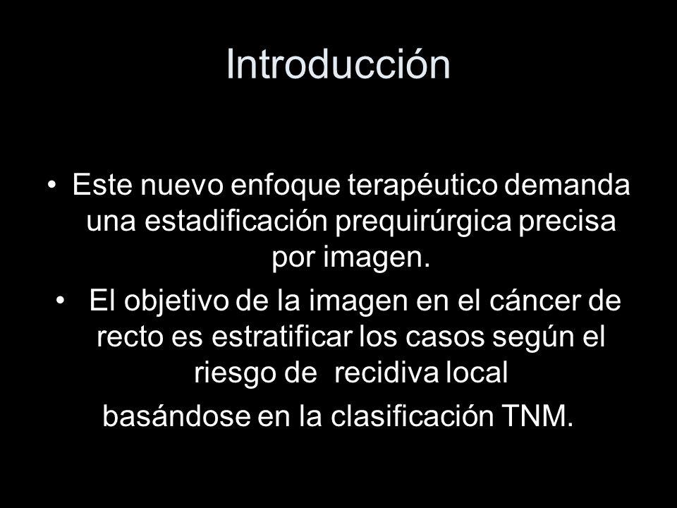 basándose en la clasificación TNM.