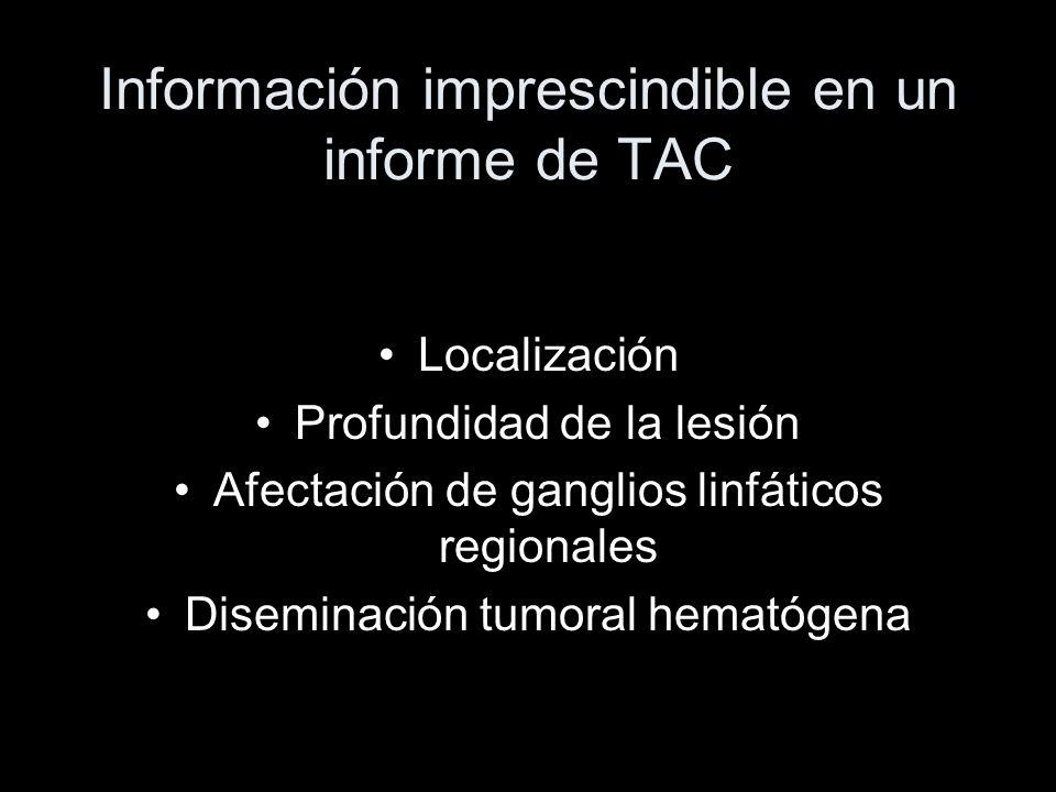 Información imprescindible en un informe de TAC