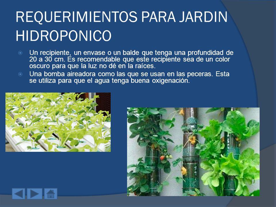 para jardin hidroponico