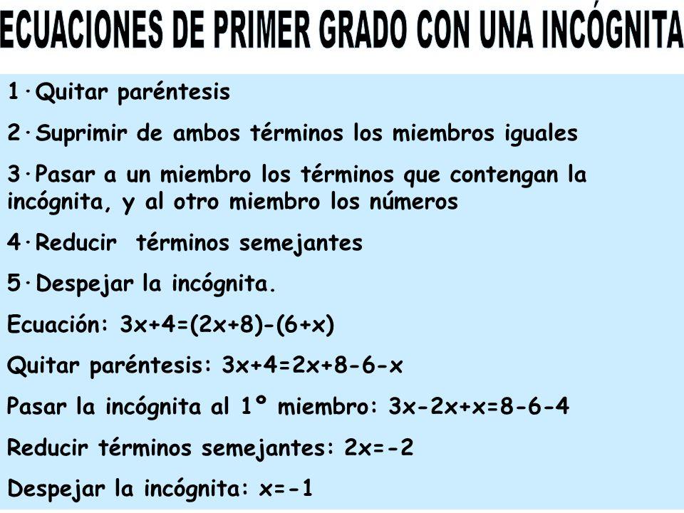 ECUACIONES ·Igualdades y ecuaciones ·Resolución de ...