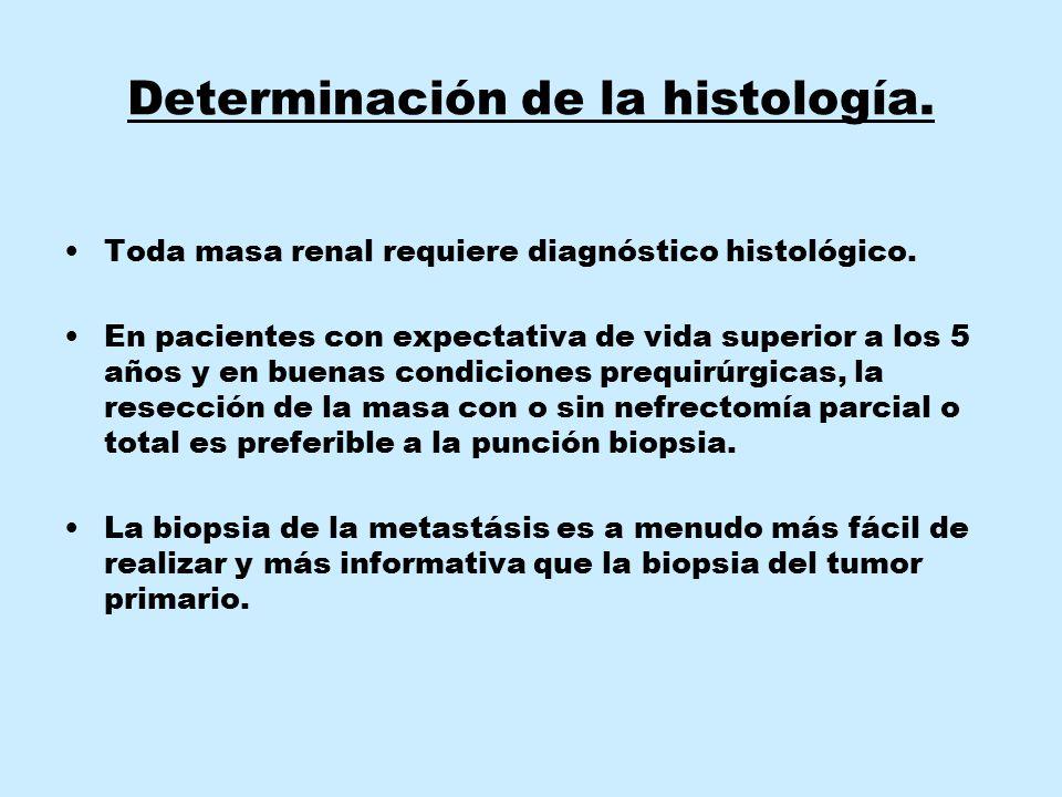 Determinación de la histología.