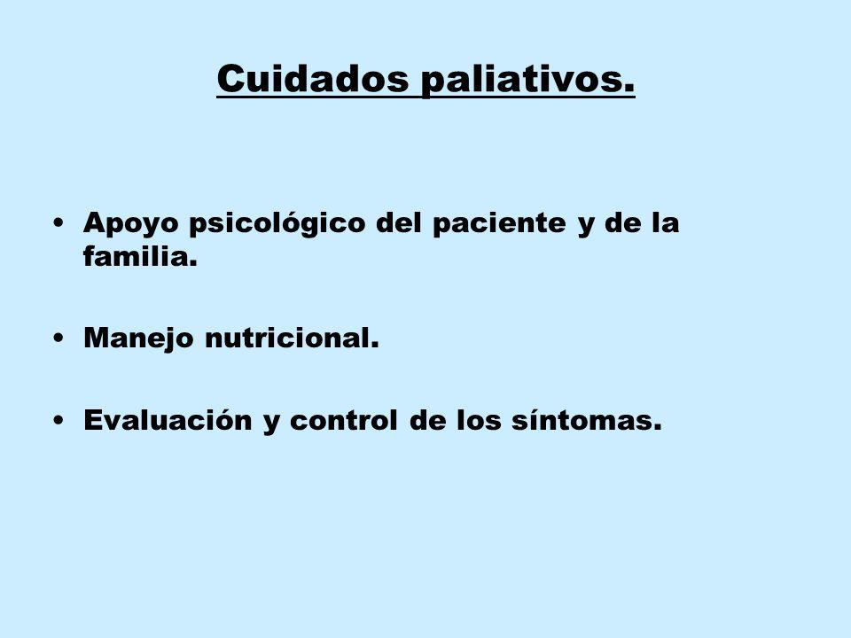 Cuidados paliativos. Apoyo psicológico del paciente y de la familia.