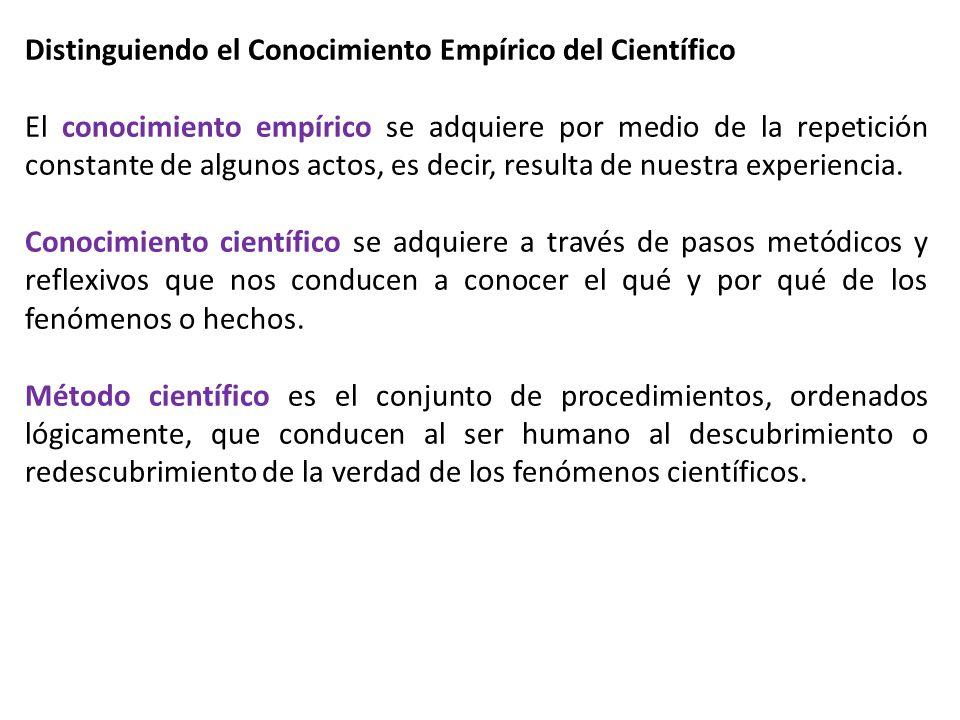 Distinguiendo el Conocimiento Empírico del Científico